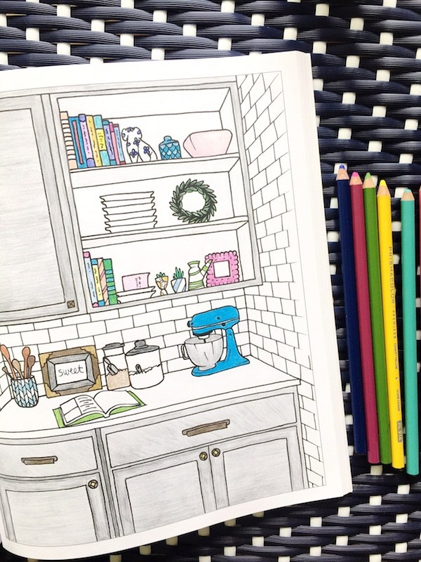 Interior Design Coloring Book , The Inspired Room , The