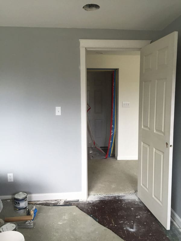Making Room for A Home Business (flooring before)