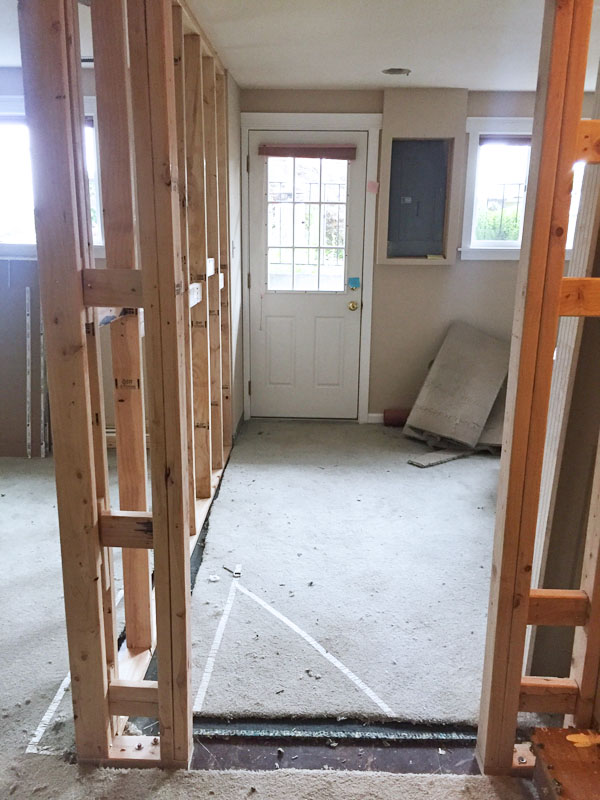 Creating Our Home Office {Basement Remodel Update}