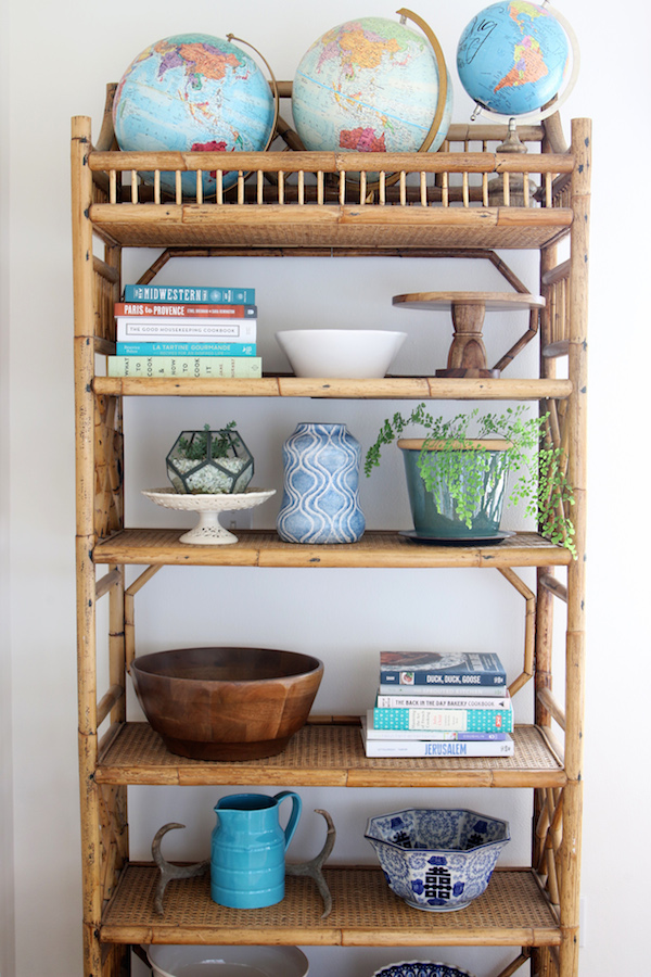 Rattan Shelf Display - The Inspired Room