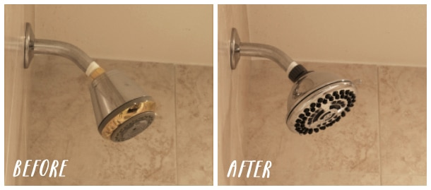Before and After - Waterpik Shower Head