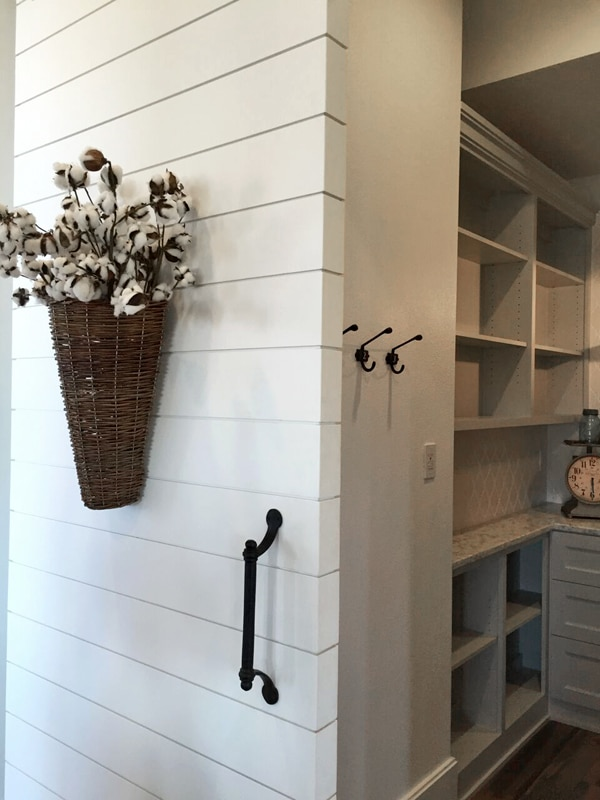 Butlers Pantry with Shiplap Barn Door - Farmhouse Street of Dreams