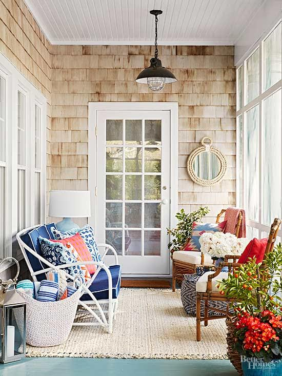 Covered porch summer decorating inspiration