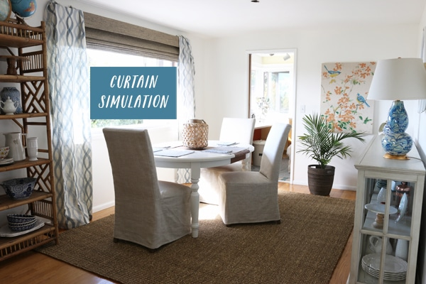 Curtain simulation - The Inspired Room Dining Room