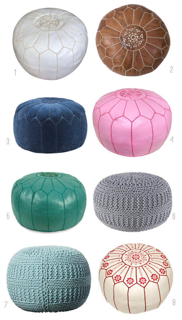 Pouf Round Up - The Inspired Room