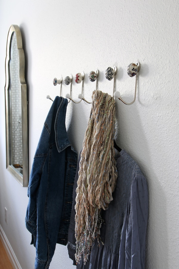 Row of Patterned Hooks - Affordable and Functional Style for the Guest Room
