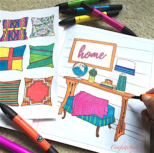 Colorful Book Room: National Coloring Book Day!