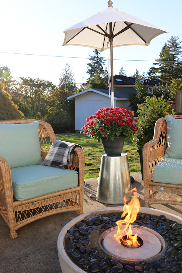 Create an Outdoor Gathering Spot - Patio Fire Fountain Giveaway
