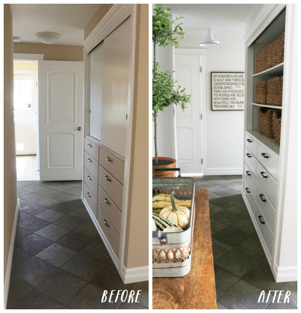 Before & Progress: Farmhouse-Inspired Entry Hall
