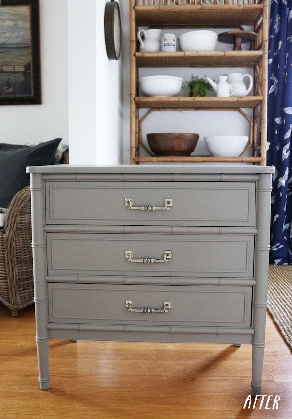 Painted Nightstand Before Amp After The Inspired Room