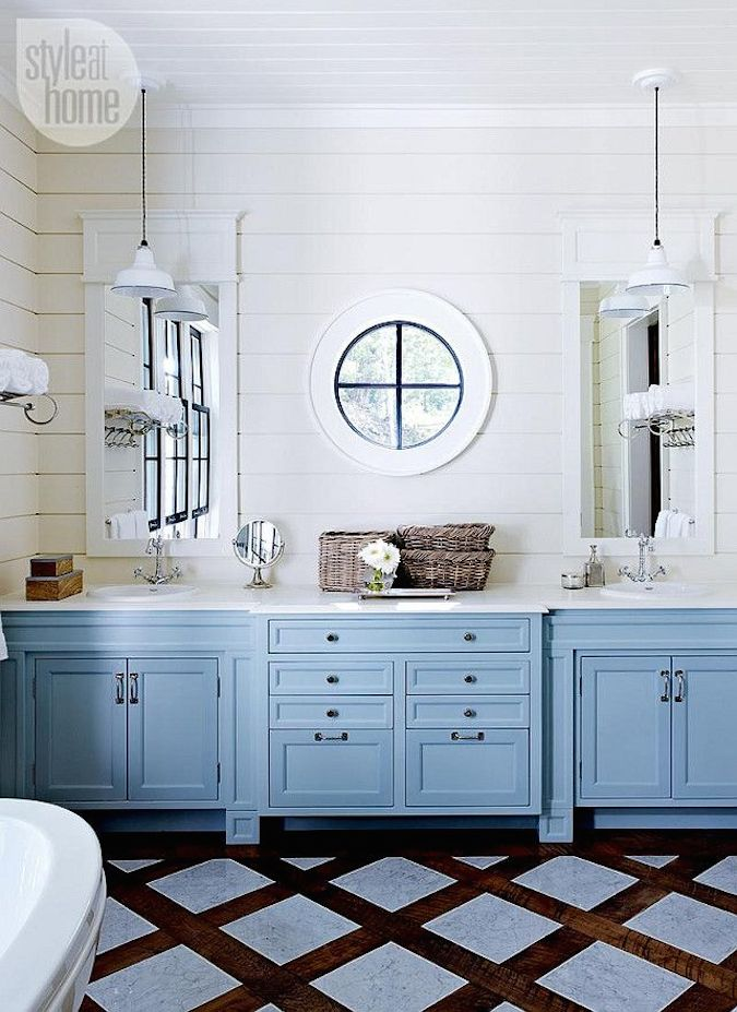 Round window inspiration - bathroom shiplap and round window