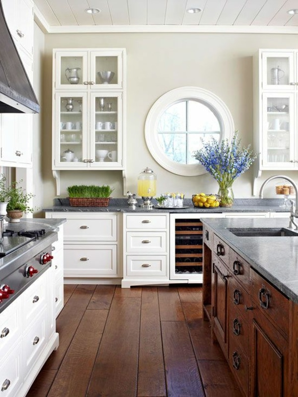 Round window inspiration - round window in kitchen  - McNulty Design