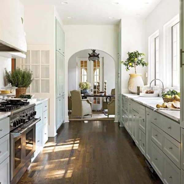 Inspiration: Arched Doorways - Galley Kitchen