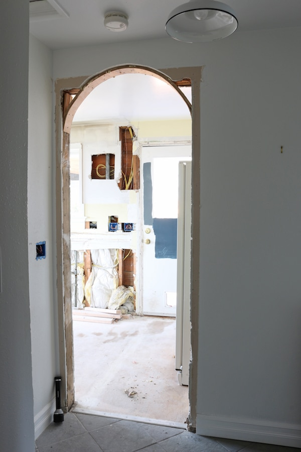 Changing A Square Door to an Arch: Before & Afters