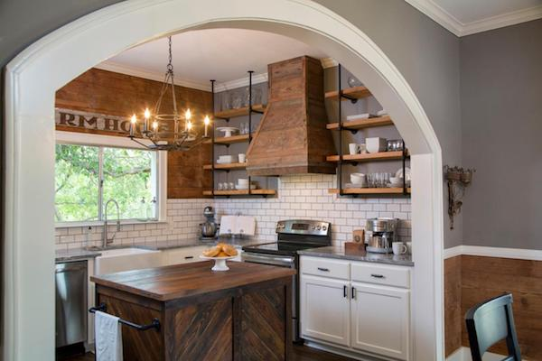 Kitchen Archway - Fixer Upper Chip and Joanna Gaines