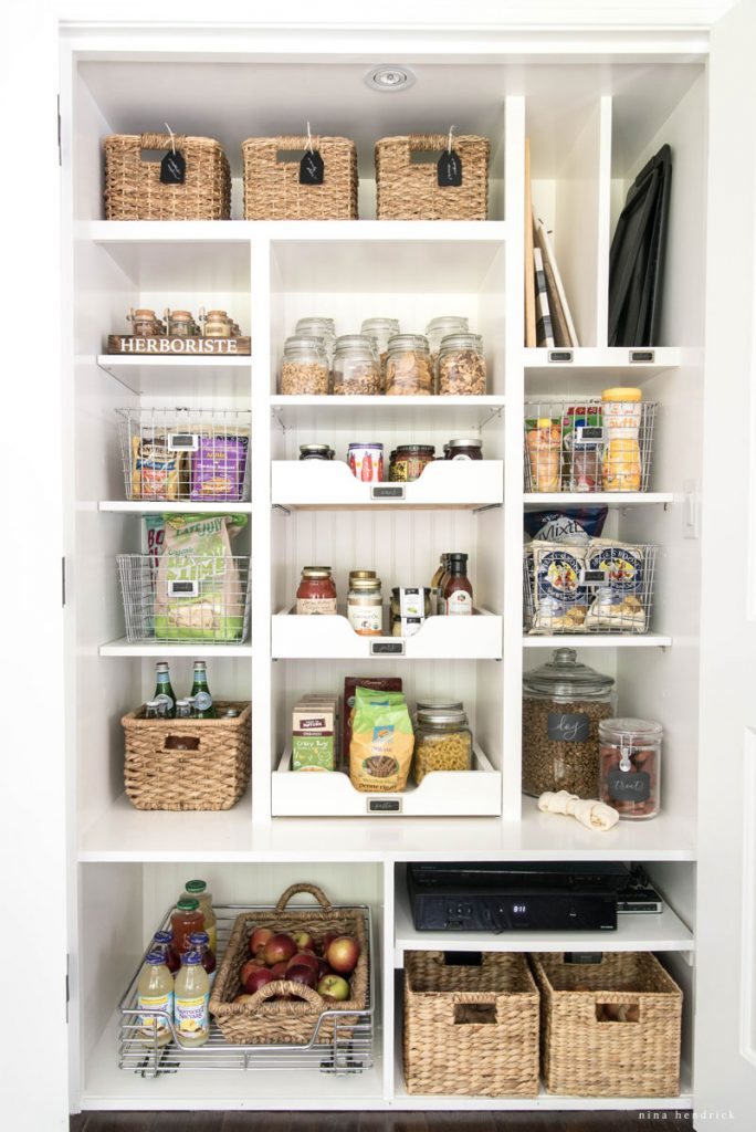 Slide out kitchen pantry drawers - by Nina Hendrick