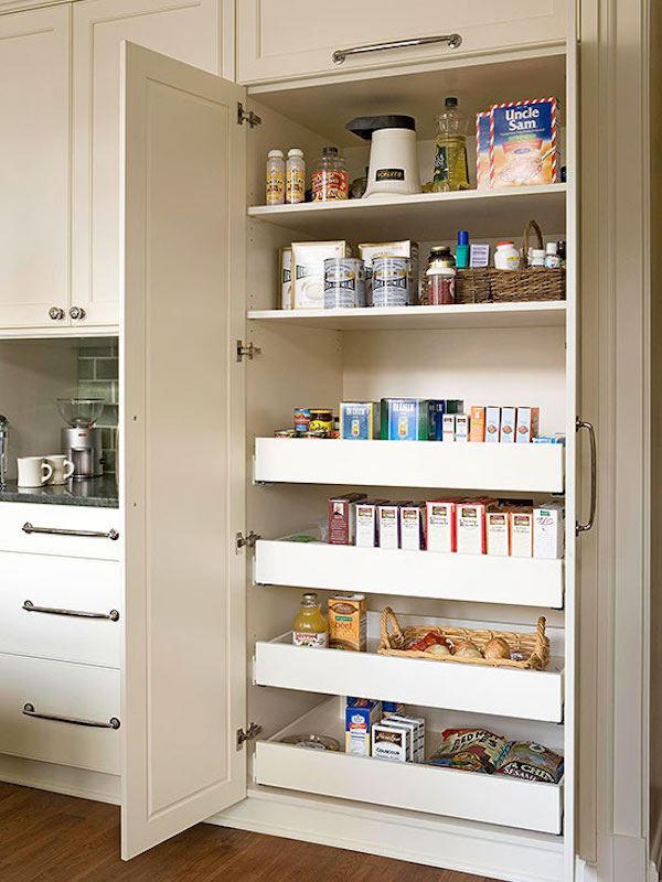 Slide out kitchen pantry drawers inspiration the - Roll out shelving for pantry ...