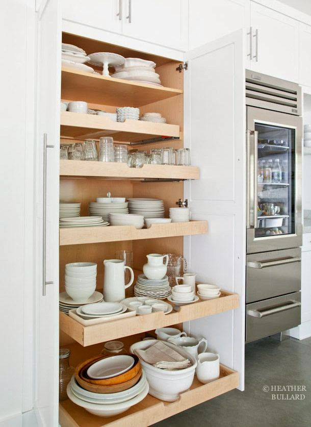 Slide out kitchen pantry drawers inspiration the for Pull out drawers for kitchen cabinets