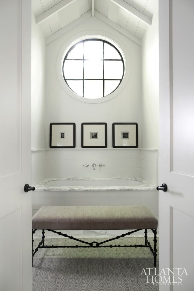 Round window inspiration - above bathtub