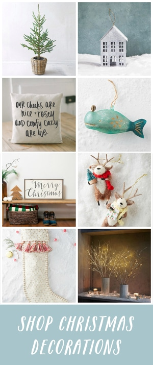 Find the most adorable Christmas decorations for 2016 in this shop by The Inspired Room.
