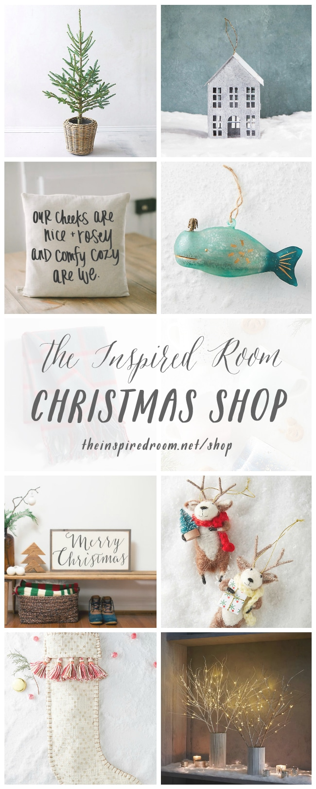 Shop here for the most adorable Christmas Decorations!