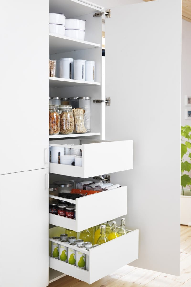 Slide out kitchen pantry drawers from Ikea