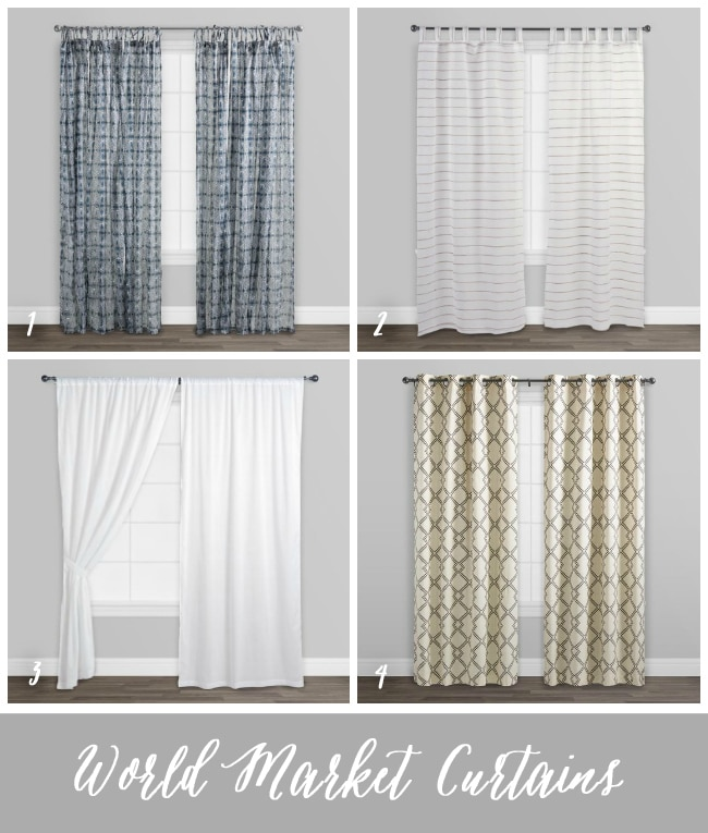 Curtains (source links in the post) to transform a room