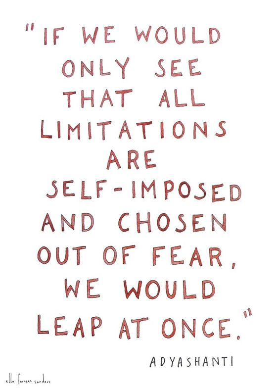 All limitations are self-imposed. Seize the moment, how a home business can change your life in 2017. Art via Ella Frances Sanders
