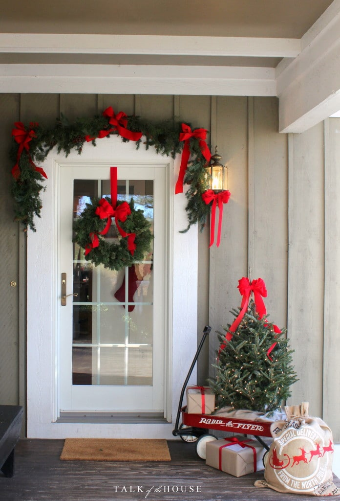 simply inspired holidays decorating your front door - How To Decorate Your Door For Christmas