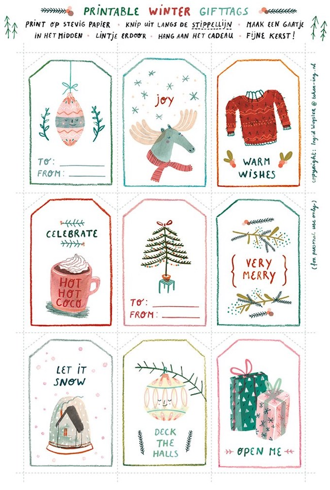 Simplicity image for christmas gift tags free printable