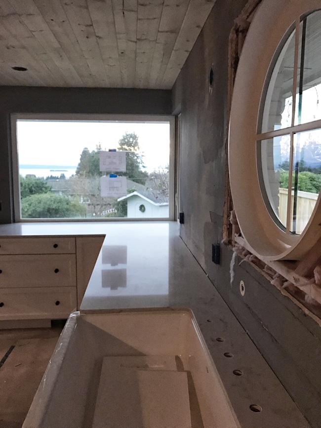 Kitchen Remodel Update: Sink Location & Counters Under Window