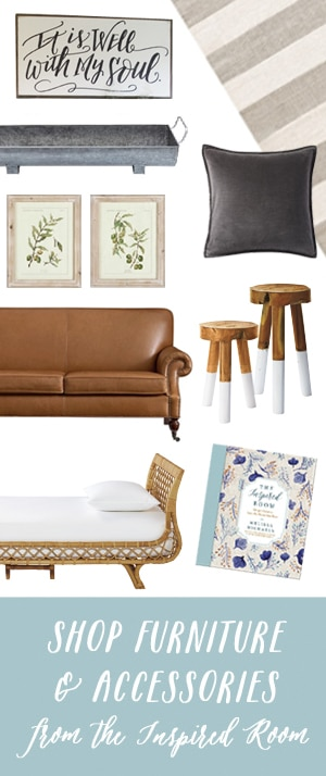 Shop Furniture and Accessories from The Inspired Room blog