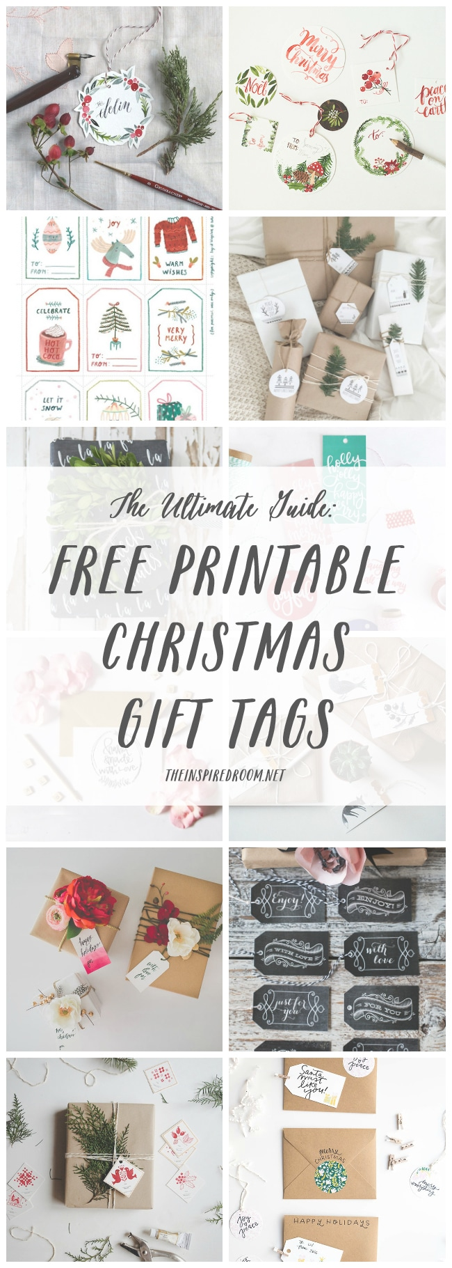 The Ultimate Adorable FREE Printable Christmas Gift Tag Round Up!