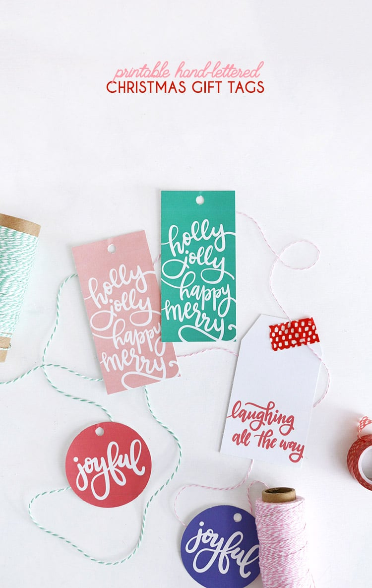 FREE Printable Handlettered Gift Tags!
