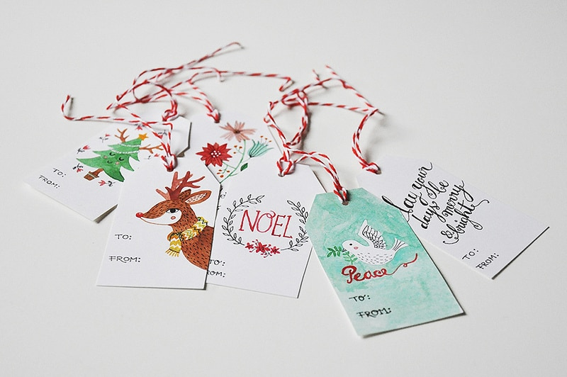 FREE Printable Gift Tag Round Up: Click through to download and print dozens of adorable Christmas gift tags.