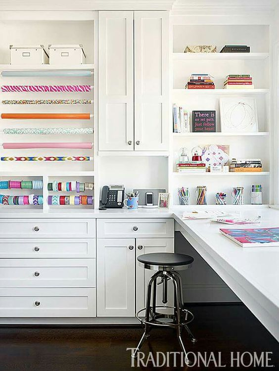 DIY Gift Wrapping Station & Storage Ideas