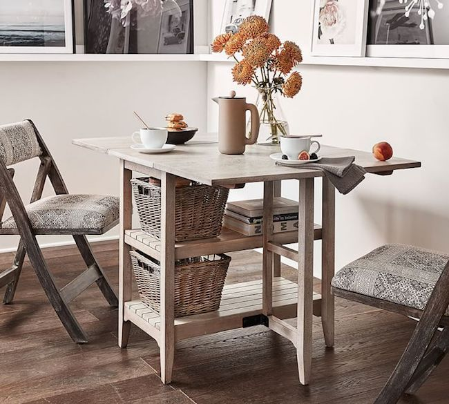 Small space solutions furniture ideas the inspired room for Small dining table with storage