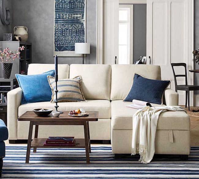 small space solutions furniture ideas the inspired room 19901 | storage chaise sofa small space furniture