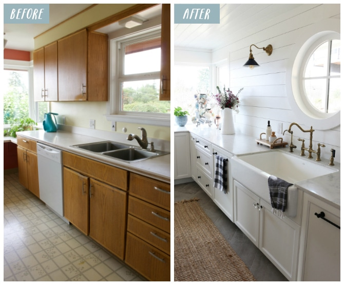 small kitchen remodel reveal - Small Kitchen Remodel Before And After
