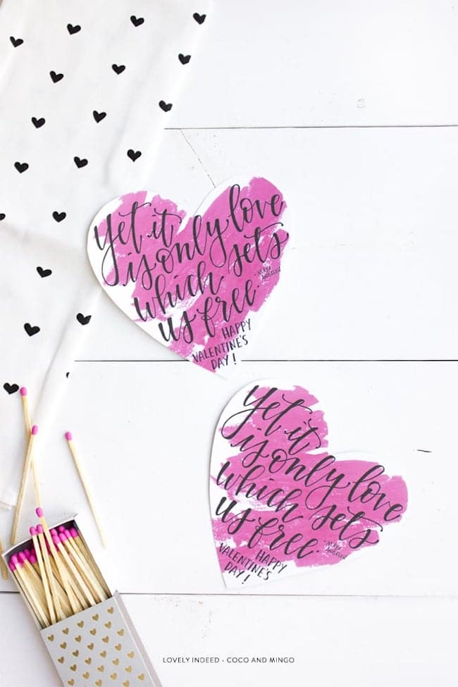 Pretty Valentine's Day Printables 2017 {Free Downloads}