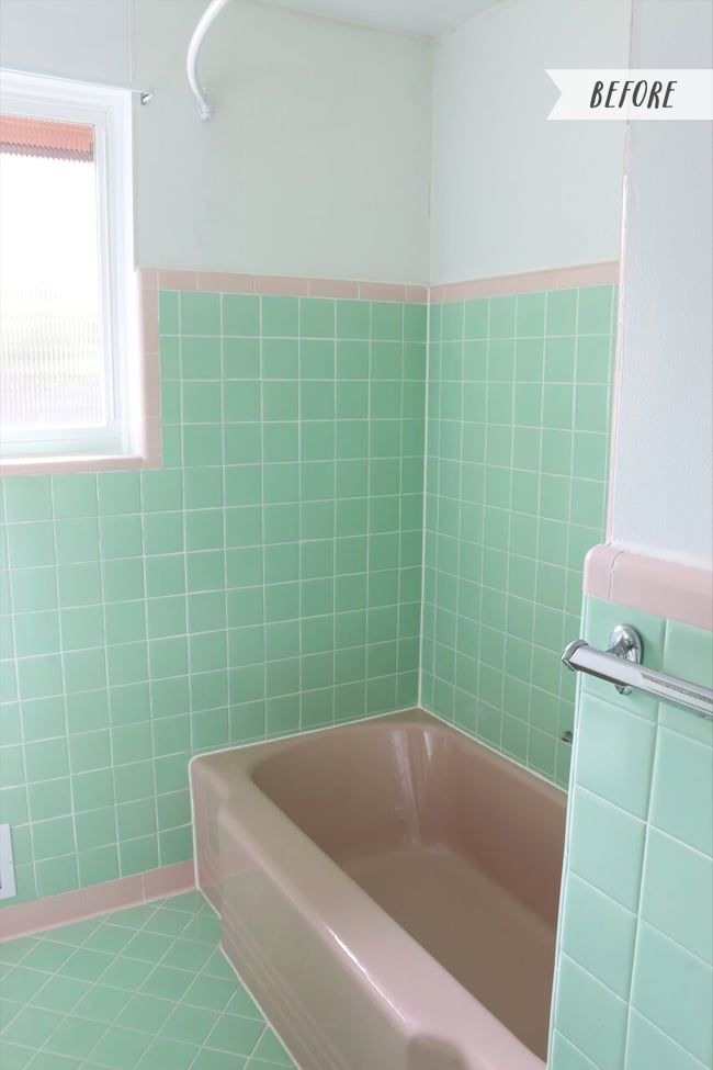 Awesome Vintage Bathrooms My Mint Pink Bathroom The Inspired Room Interior Design Ideas Gentotryabchikinfo