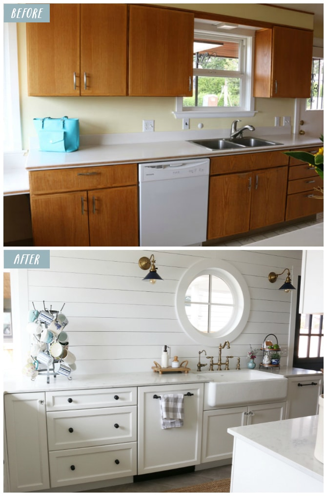 Small Kitchen Remodel Reveal The Inspired Room Stunning Small Kitchen Remodel Before And After Design