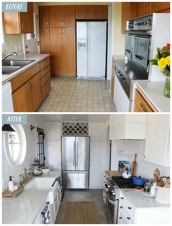 kitchen design photos before and after. Small Kitchen Remodel Reveal  The Inspired Room