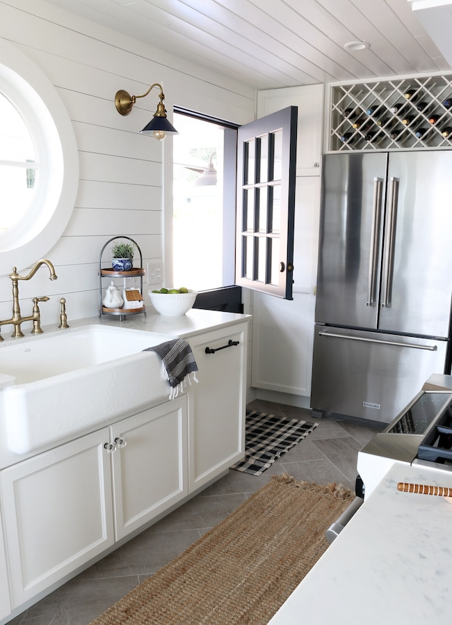 shiplap wall kitchen. shiplap kitchen: planked walls behind sink \u0026 stove wall kitchen s