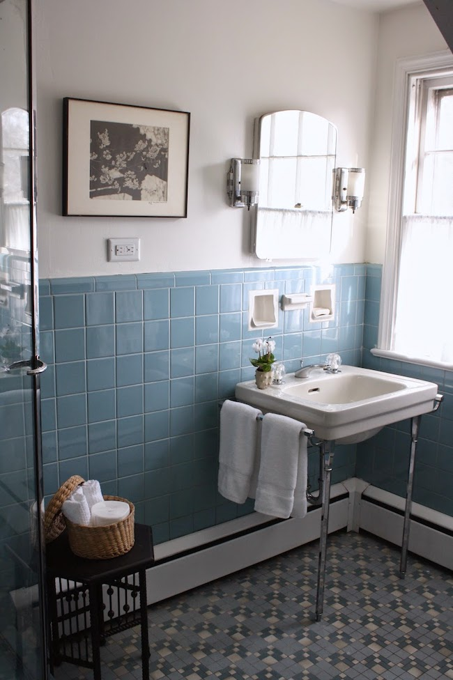 Vintage Bathrooms (My Mint & Pink Bathroom) - The Inspired Room on vintage bathroom cabinets, vintage marble bathroom designs, country bath designs, vintage blue bathroom designs, vintage bathroom remodeling ideas,
