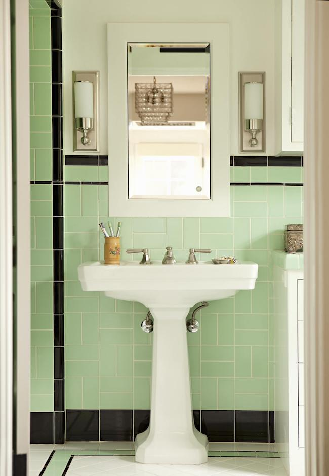 Fancy Vintage Bathrooms My Mint u Pink Bathroom
