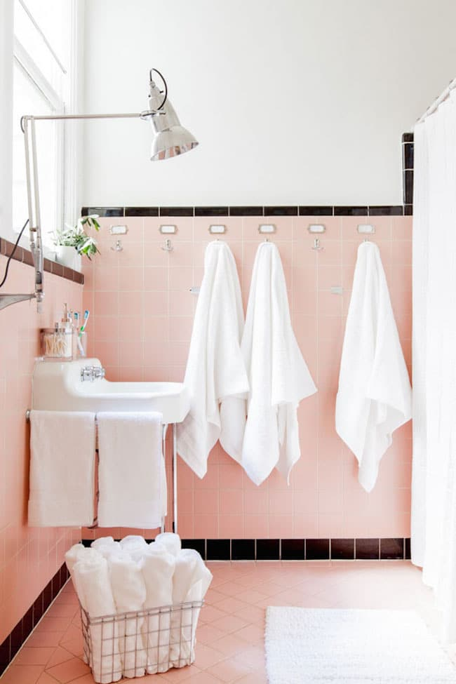 Trend Vintage Bathrooms My Mint u Pink Bathroom