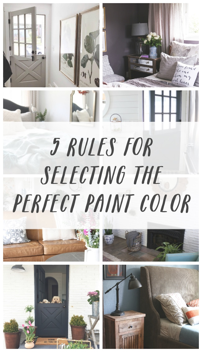 Five Rules for Selecting the Perfect Paint Color
