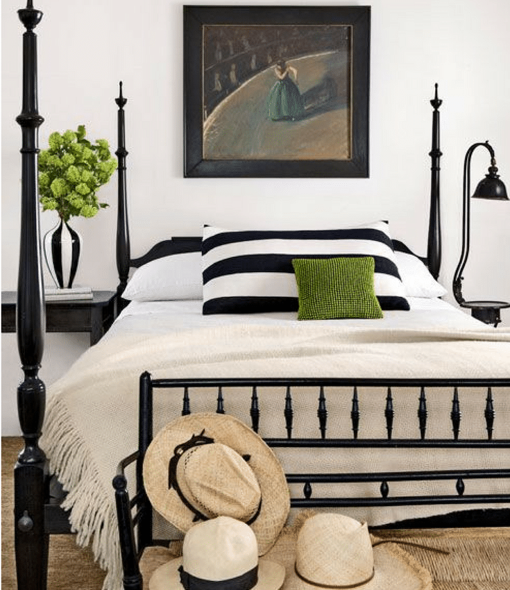 black and white bedroom with a pop of color bedroom inspiration four poster beds the inspired room 21310