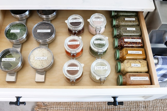 My Organized Spice Drawer